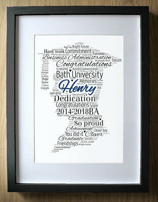 Personalised Graduation Gift for Boys Word Art - Boy - Degree Gift Graduates ()