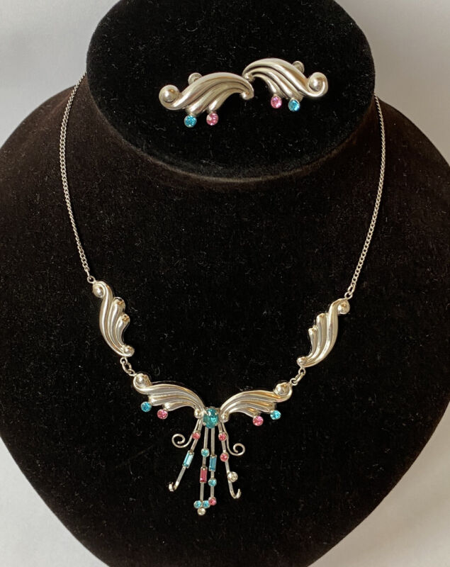 Vintage Sterling Silver 925 Bond Boyd Signed Necklace & Earring Set