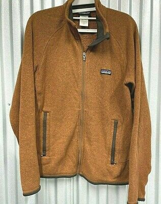 Patagonia Mens small Full Zip Orange Fleece Sweater