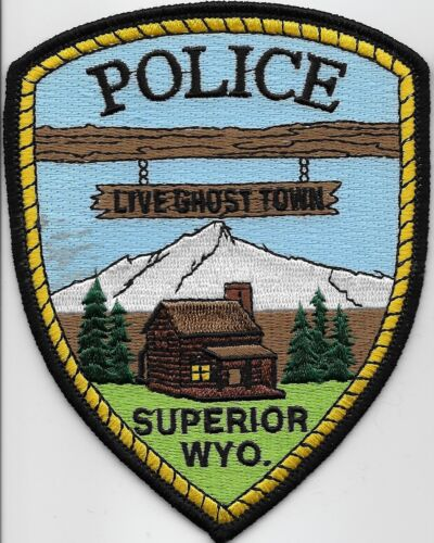 Scenic Superior Police State Wyoming Mountains WY