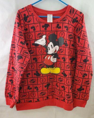 Mickey Mouse Sweatshirt Junior Size Unisex Size XXL(19) Red