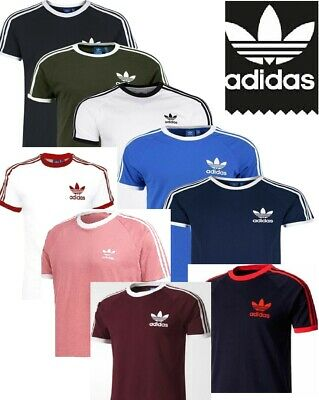 Adidas stripes Originals Retro California Short Sleeve Crew Neck Men's T-Shirt