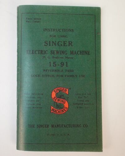 Singer 15-91 Console Desk Sewing Machine Owner