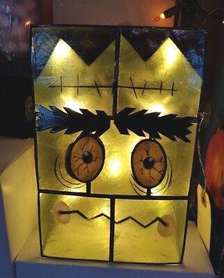 Kurt Adler HALLOWEEN Capiz FRANKENSTEIN Design Table Decoration 10-Lt HW1742 NEW](Kurt Adler Halloween)