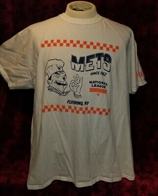 XL New York Mets Pizza Box Coca Cola Promo T-shirt NYM