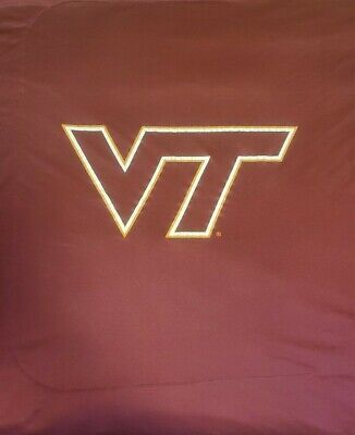 Virginia Tech Full Size Comforter Great Condition No Snags Cracking On decal Locker Room Collection Comforter