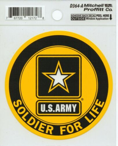 US ARMY SOLDIER FOR LIFE DECAL STICKER - MADE IN THE USA - 1 DAY HANDLING!!!!
