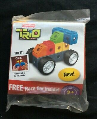 Fisher Price Trio Race CarBuilding Blocks BricksToy NEW