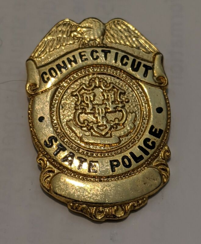 Retired Connecticut State Police Officer Badge Lapel Pin CSP Obsolete Vintage