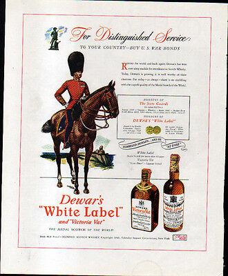 1943 DEWAR'S WHITE LABEL & NORFOLK & WESTERN RR AD- OHIO- SCOT's GUARD