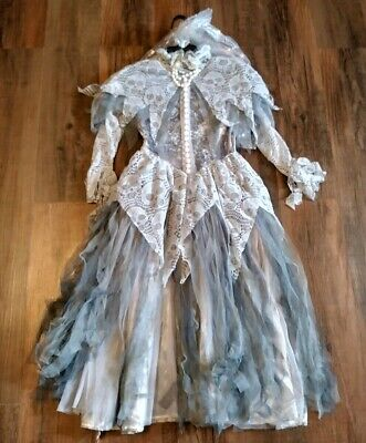 Gothic Zombie Victorian Dress Costume For Girls Large 6X Hallow's Eve Brand