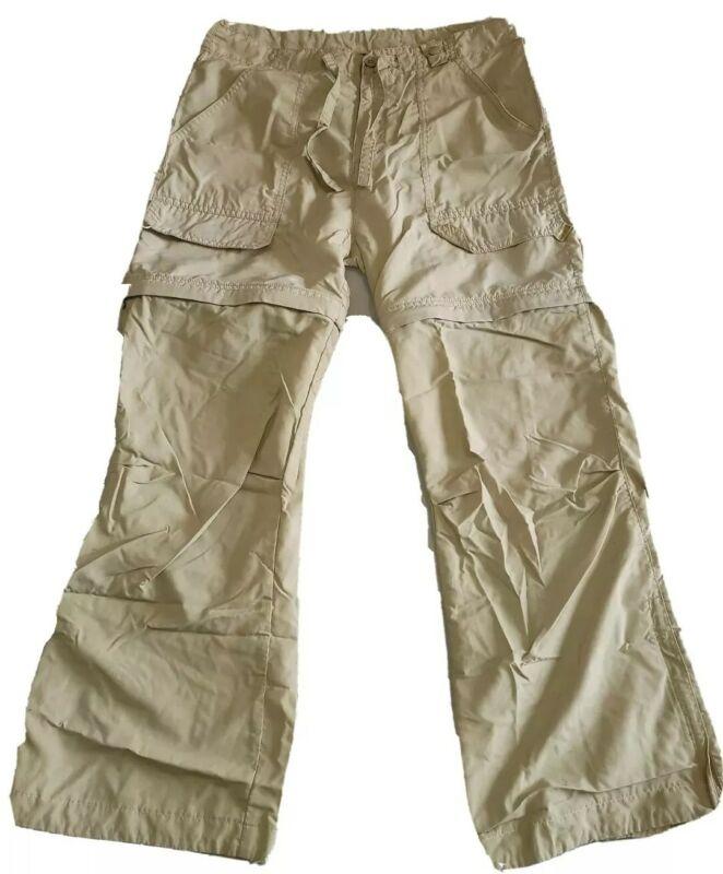 REI ~Boys Convertible Cargo Pants -UPF 30+-Khaki -100% Nylon~ Size L (12-14)