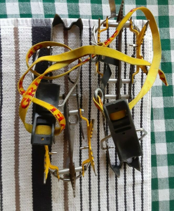 GRIVEL, Made in Italy Ice Crampons, Forged Steel, Alpine, Mountaineering CE 0123