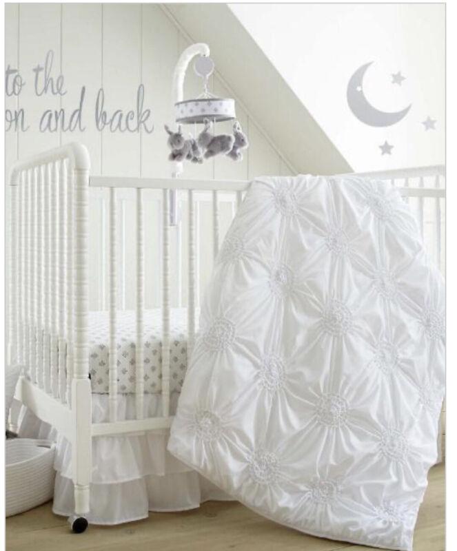 Levtex Baby Willow White 5 Piece Crib Bedding Set NEW