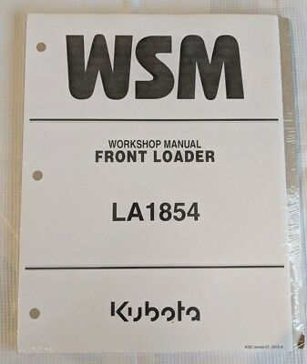 2015 Kubota La1854 Front Loader Workshop Service Manual
