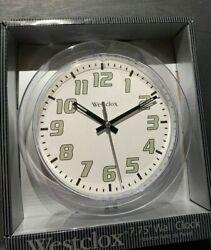 WESTCLOX 32004CL 7.75 in. Round Quartz Wall Clock-CLEAR