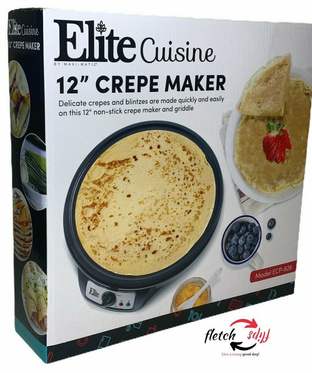 "ELITE CUISINE 12"" CREPE MAKER"