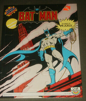 1984 Vintage Craft Masters Super Powers Batman 15 PC Puzzle SEALED NEW NOS MINT!