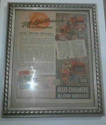 Allis-chalmers All Crop Harvester Add In Frame 1941 Model 40 Model 60