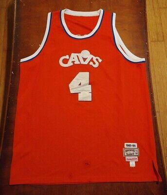 Mitchell & Ness NBA Hardwood Classics Cleveland Cavs #4 Ron Harper Jersey Sz 54