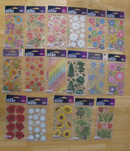 Sticko Scrapbooking Stickers FLOWERS & TREES U PICK NIP FREE SHIPPING