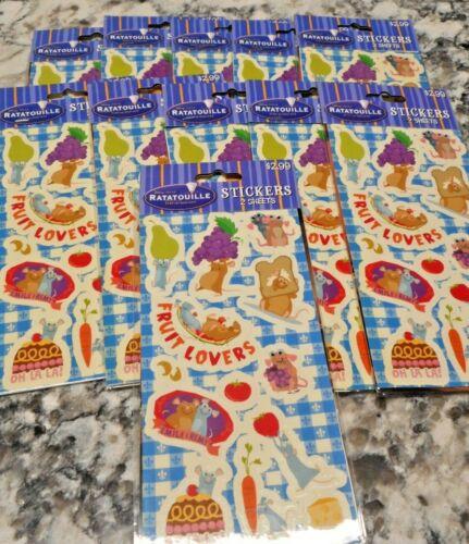 11Packs Disney Ratatouille Stickers 2 sheets per NEW Fruit lovers