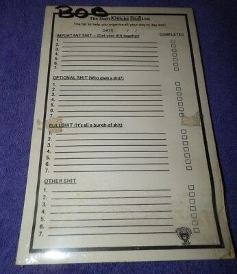 The Daily Official St List-still Sealed And Unused-funny Novelty