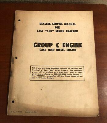 Case Dealers Service Manual Tractors 630 Group C 188d Diesel Engine