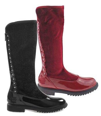 Klar, Schuhe Für Mädchen (lelli kelly klar schwarz rot Zinn Stiefel Mädchen Leder Samt)