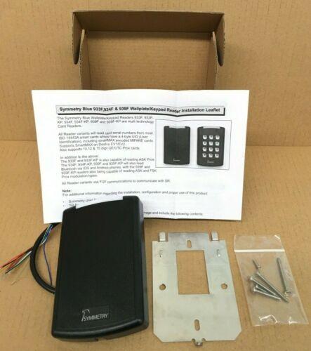 Symmetry Bluetooth 939F Single Gang Card Access Reader-F2F-AMAG-(#939F)-NIB-Blk