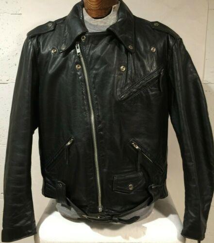 Nice Vintage Harley Davidson Black Leather Jacket, Sz 46, XL Lined Made in USA