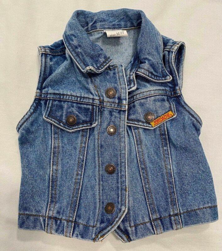 Vintage Blue Denim Vest Jordache 3T Boys Girls Medium