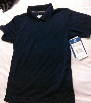 NWT Dickies Uniform Polo Shirt Navy Blue Youth S, Boys 8