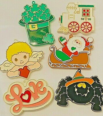 Vintage HALLMARK Painted Plastic COOKIE CUTTERS ~ Halloween Christmas Holidays