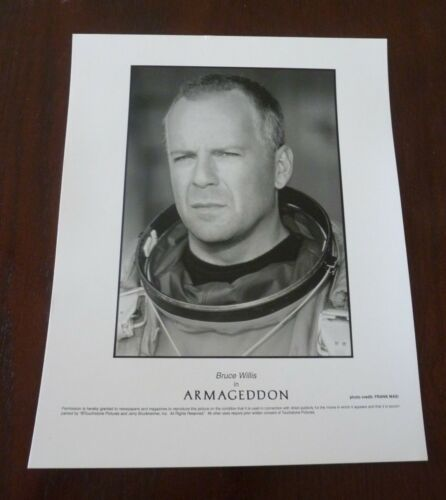 Bruce Willis Armageddon Movie Actor Sexy 8x10 B&W Promo Photo