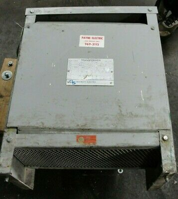 Hevi Duty 15 Kva 3 Phase Pri 480 Volt Sec 208y120 Volt Transformer Used Tested