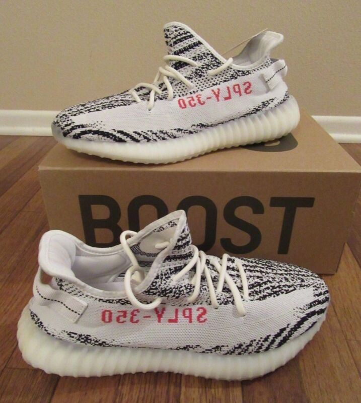 9f1689223e594 Adidas Yeezy Boost 350 V2 Size 11.5 White Black Red Zebra CP9654 Brand New  NIB