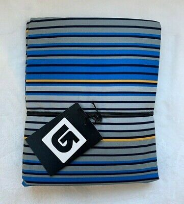 Pottery Barn Teen Twin Burton Halfpipe Stripe Duvet Cover only blue grey