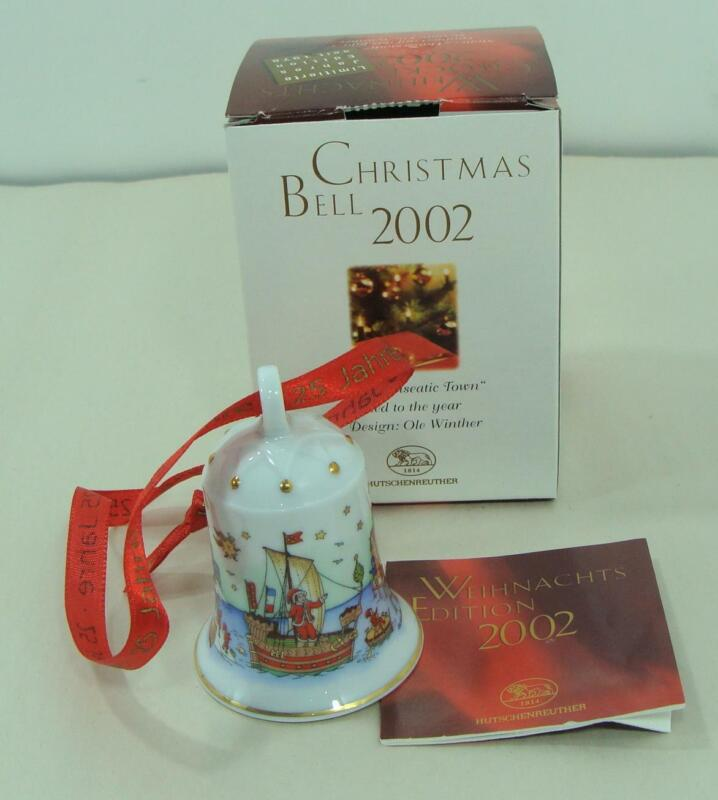 HUTSCHENREUTHER CHRISTMAS BELL VINTAGE ORNAMENT NIB DATED 2002 RARE COLLECTIBLE