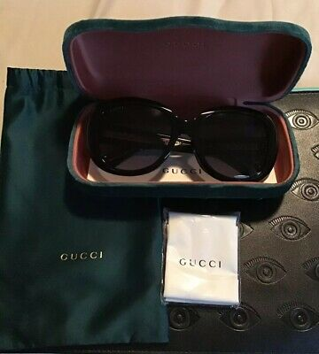 Authentic Brand New Gucci Sunglasses GG014OSA-001 Sz. 56-19-140 Made in Italy