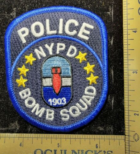 New York Bomb Squad NYPD Police Department Officer Patch
