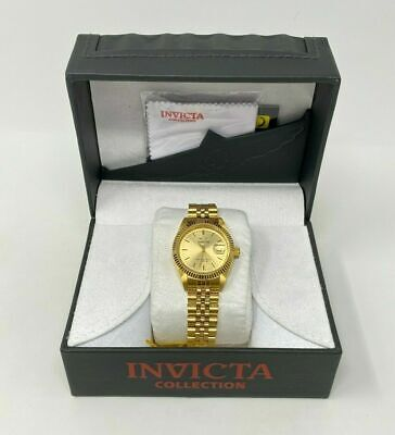 Invicta Specialty 32136 Unisex 36mm Gold Tone S/Steel Watch Brand New with Tags