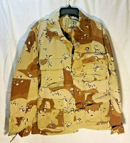 Coat, Desert Camouflage, Combat, Size Large Regular **Discounted/Stained**