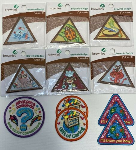 NEW (5) Girl Scout Brownie Inventor Badges: Iron-on