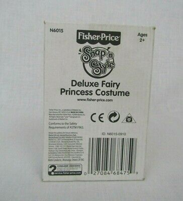 Fisher Price Snap 'N Style Deluxe Fairy Princess Costume Outfit Sealed New