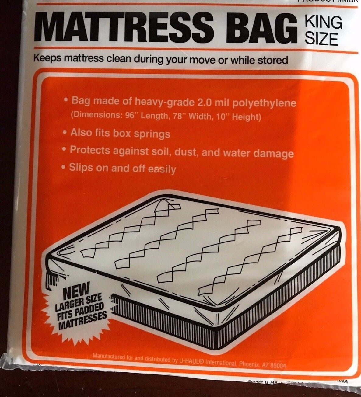 King Size Mattress Bag for Moving / Storage Also fits box sp