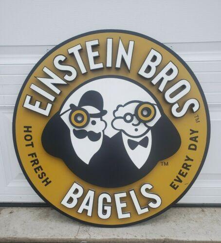Original Einstein Bros Bagels Hanging 3D Store Sign