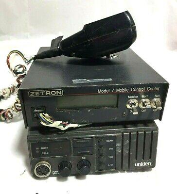 Zetron 7 Mobile Control Center Uniden Serial 2687-032 Radio