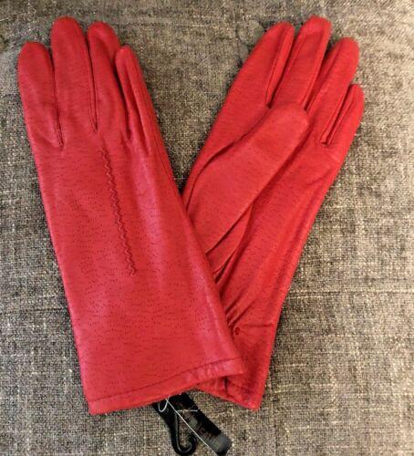 NWT Vintage Michelle Stuart Red Leather Women