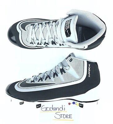 Nike Men Huarache 2k Filth Pro Mid Metal Baseball Cleats Sz 10.5 Gray 807128-001
